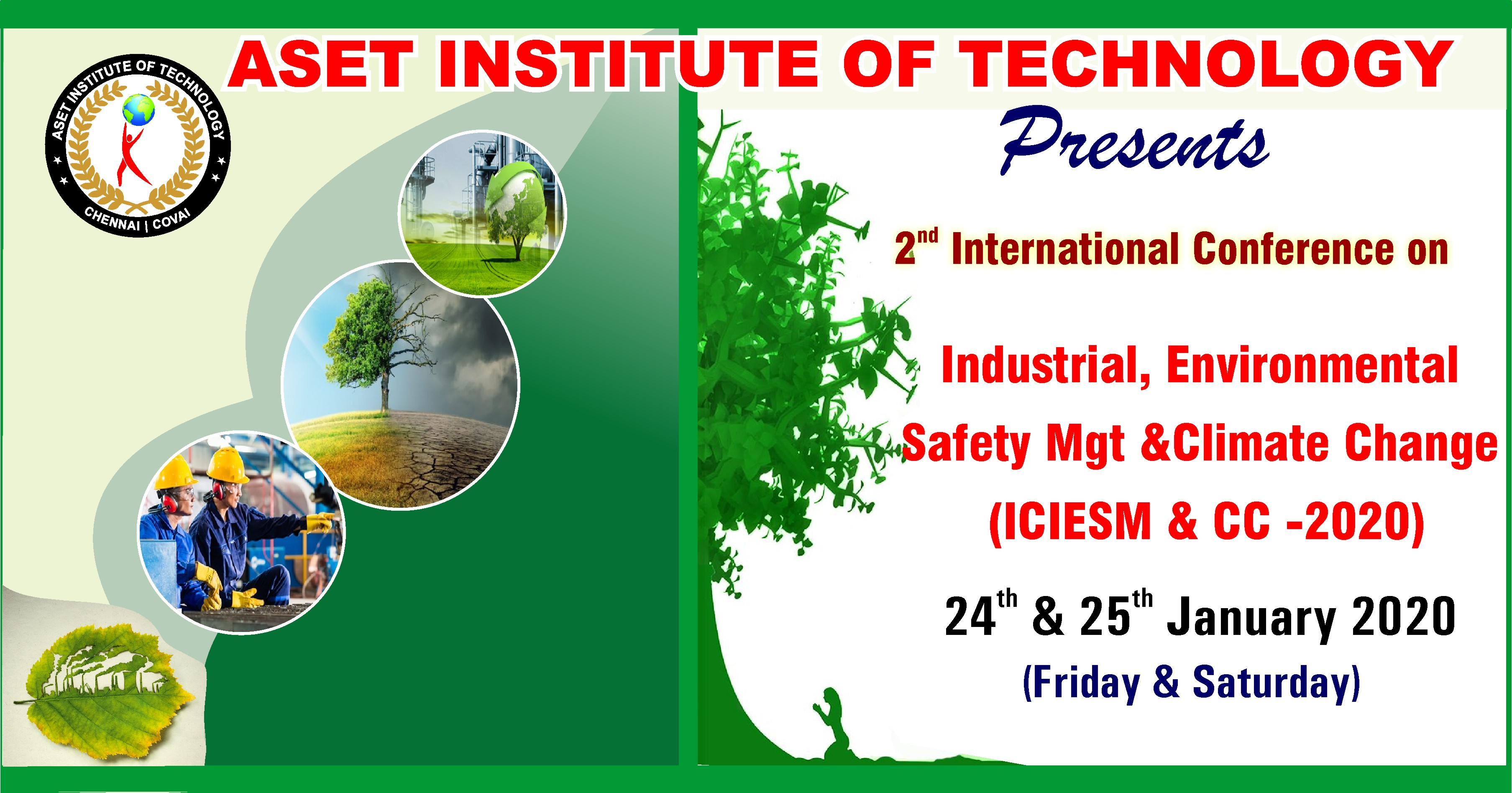 International Conference on Industrial, Environmental Safety Management and Climate Change 2020