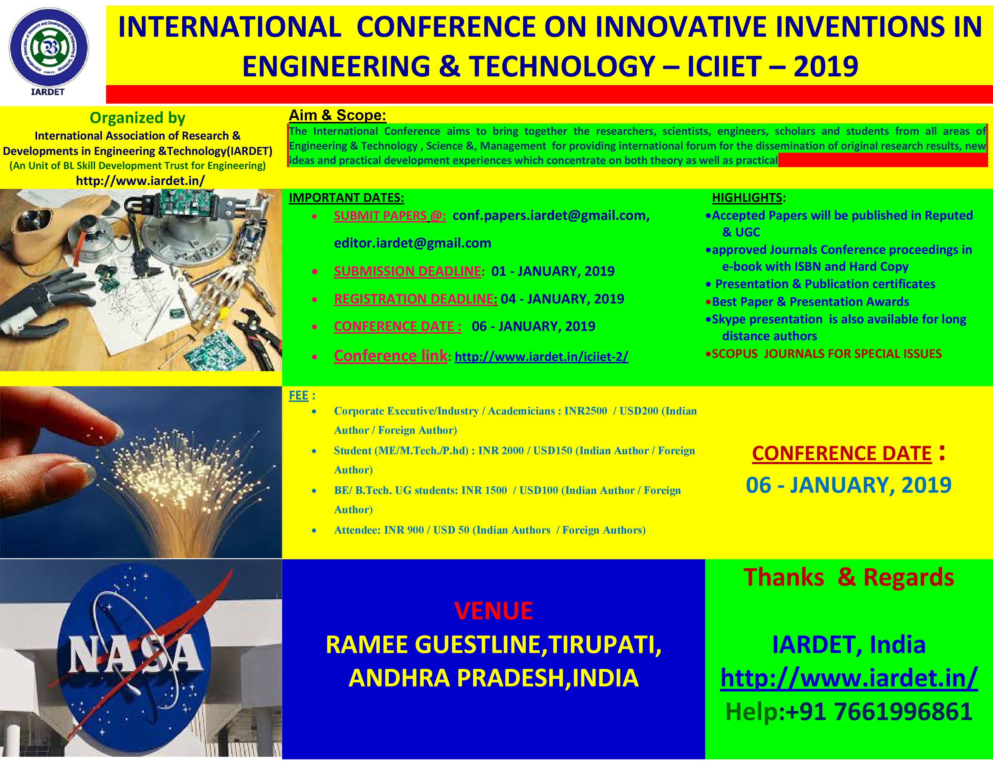 5th International Conference on Innovative Inventions in