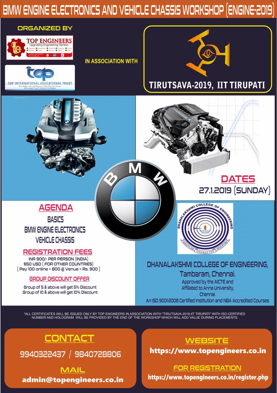 BMW Engine Electronics and Vehicle Chassis Workshop Engine 2019
