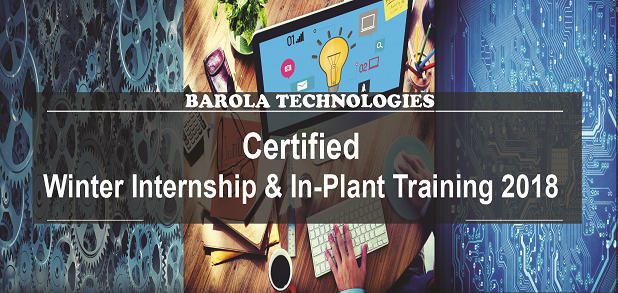Certified Winter Internship and In Plant Training 2018