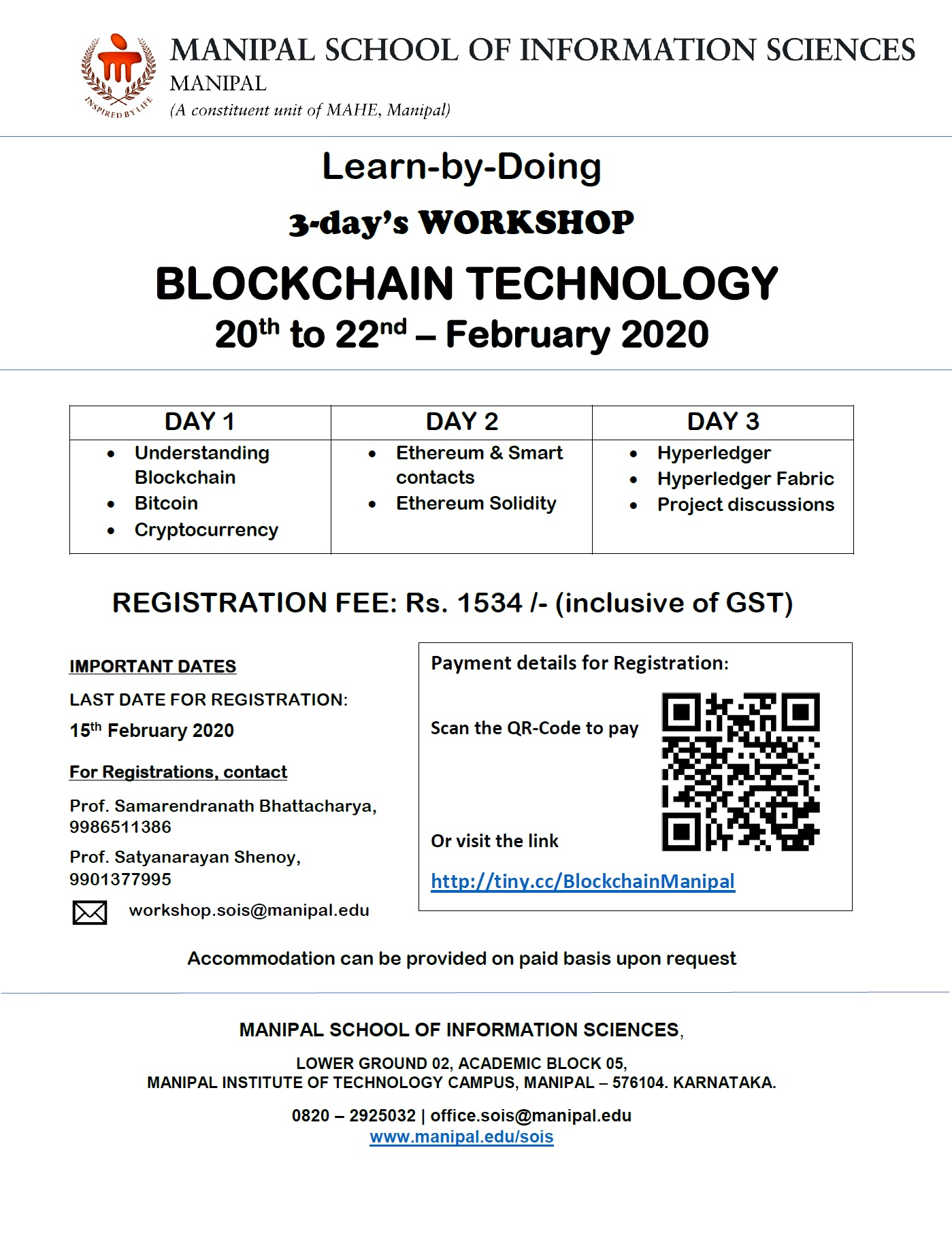 Learn by Doing Workshop on Blockchain Technology 2020