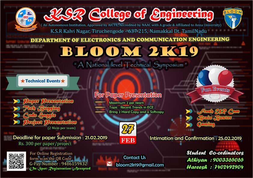 BLOOM 2K19