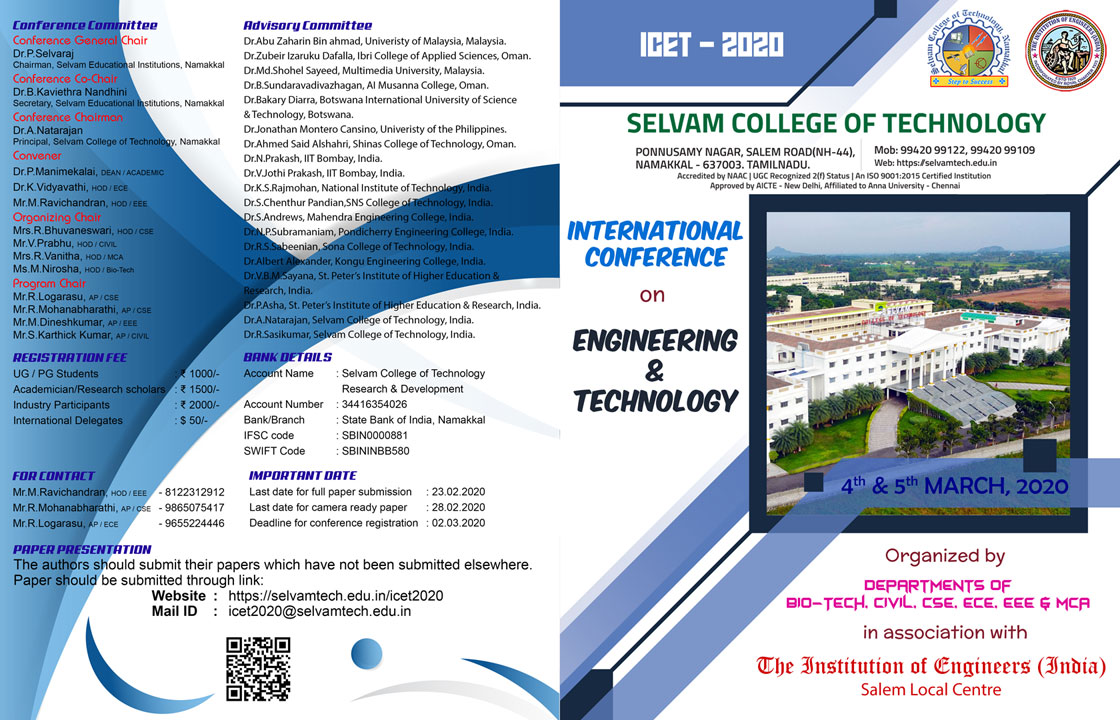 International Conference on Engineering and Technology ICEA 2020