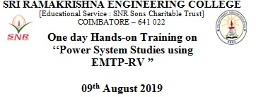 One Day Hands on Training on Power System Studies using EMTP-RV 2019
