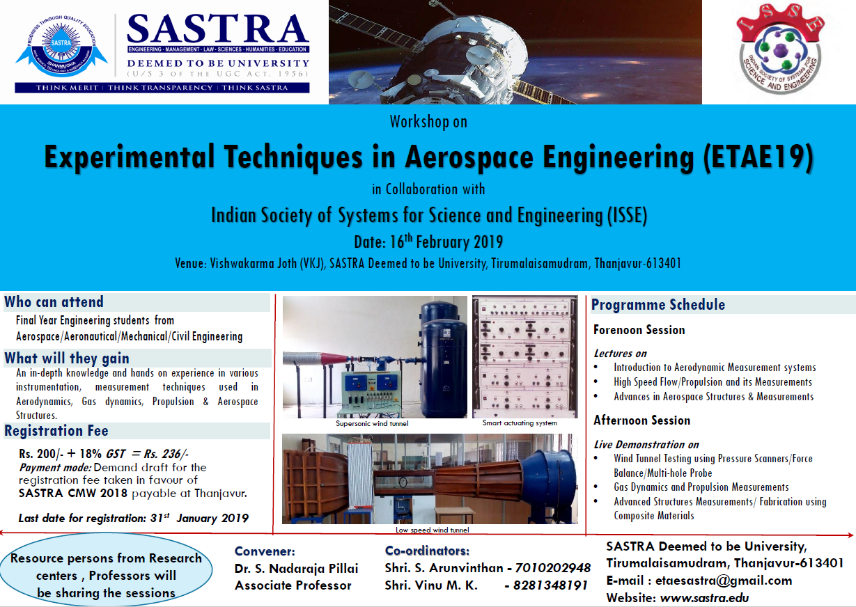 Experimental Techniques in Aerospace Engineering ETAE 19