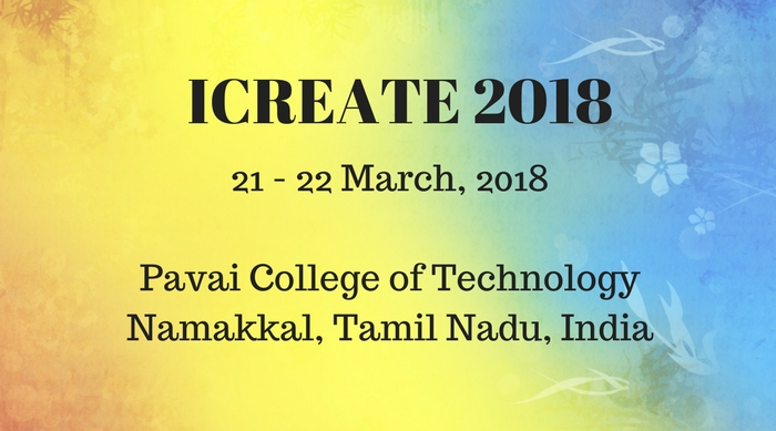International Conference on Recent Evolutions and Adaptable Technologies in Engineering 2018