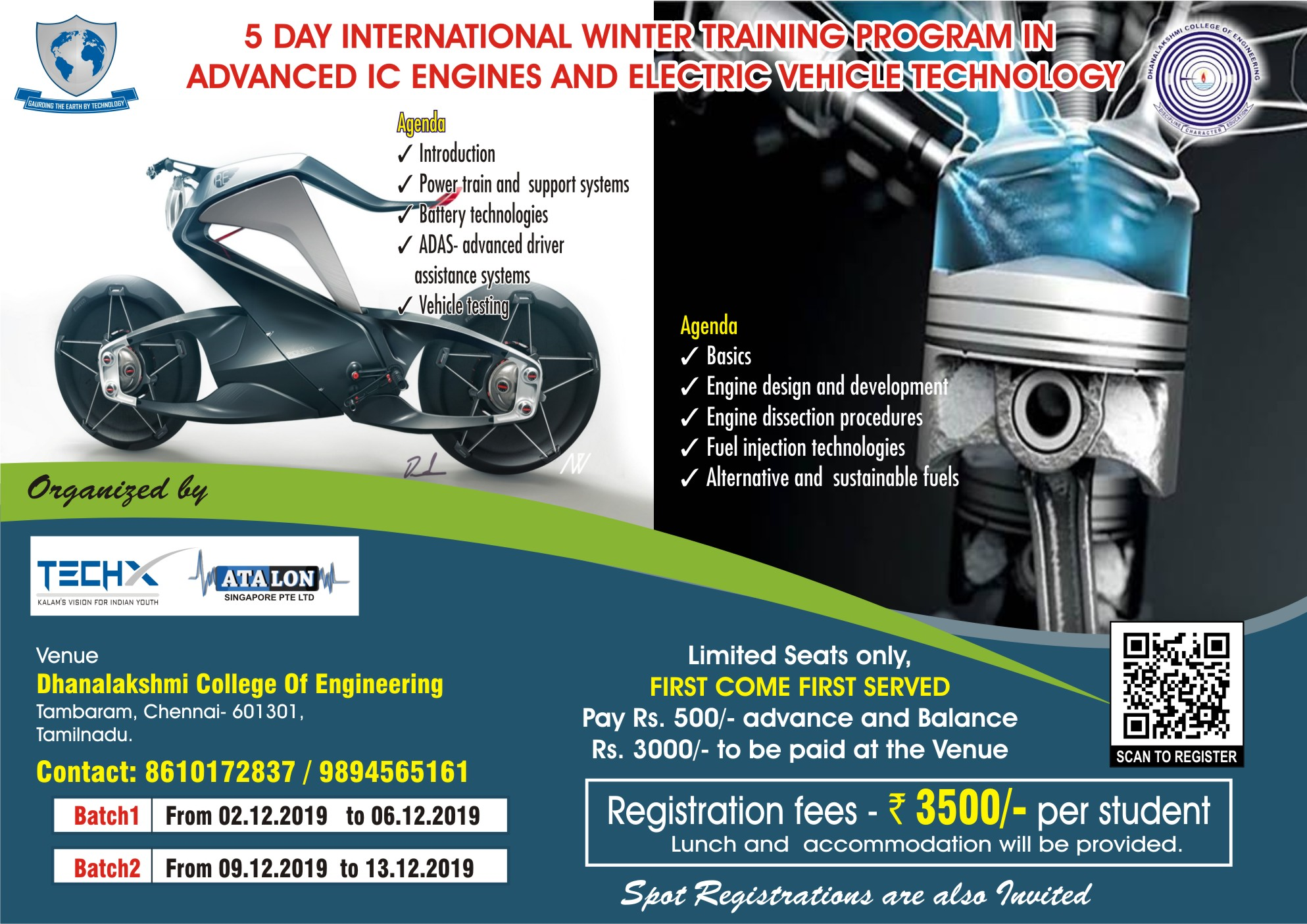 5 Day Internaional Winter Training Program in Advanced IC Engines and Elecric Vehicle Technology 2019