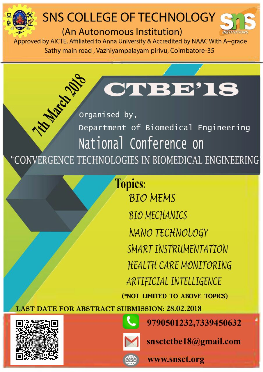 Convergence Technologies in Biomedical Engineering CTBE 18