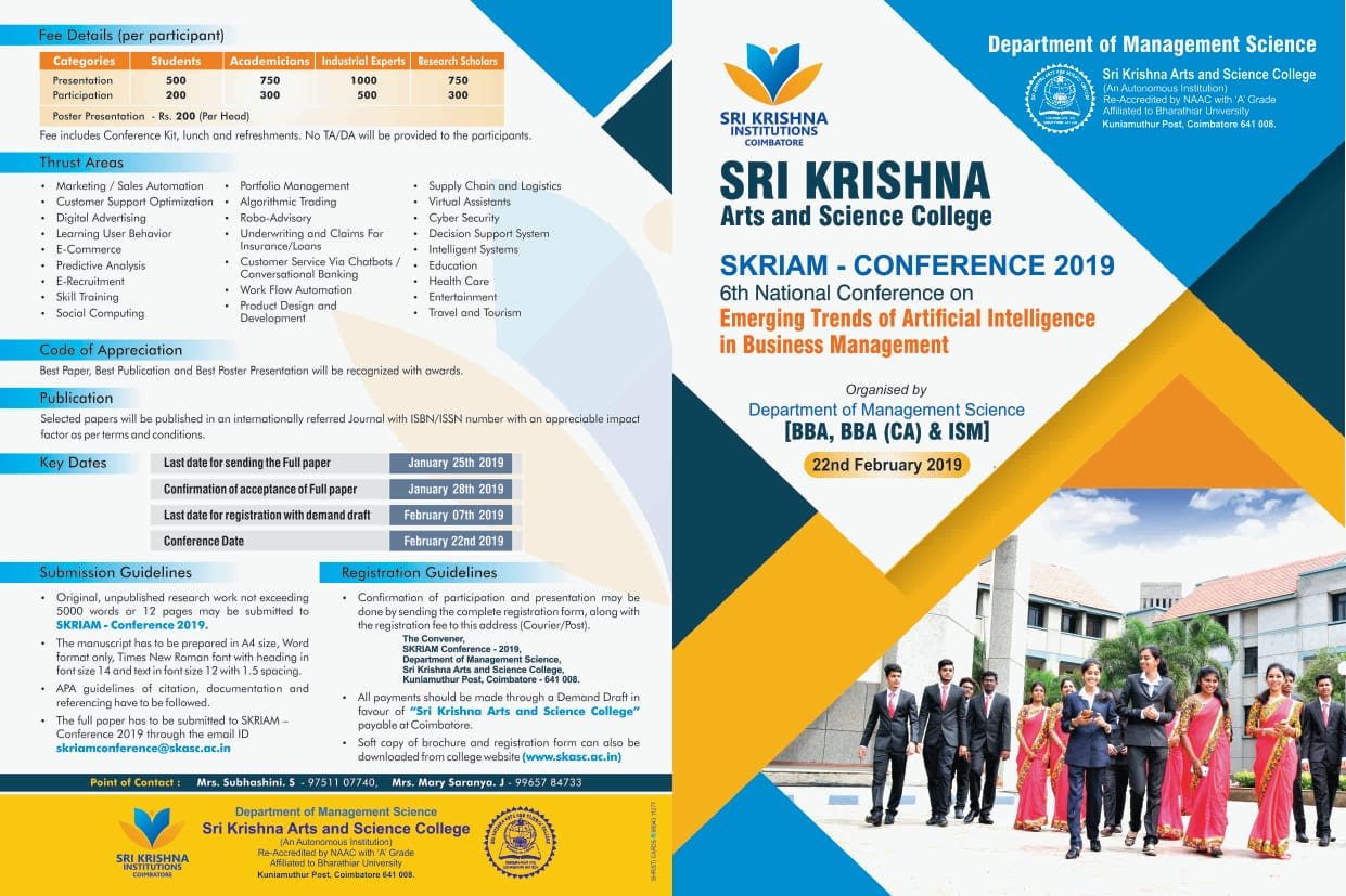SKRIAM CONFERENCE 2019