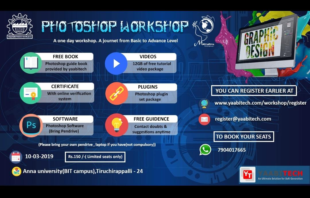 One day Photoshop Workshop 2019, University College of