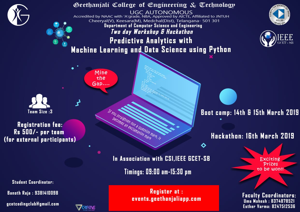 Predictive Analytics with Machine Learning and Data Science using Python 2019