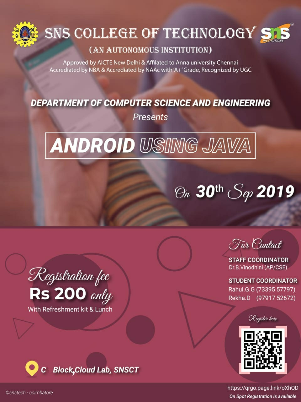 Workshop on Android using Java 2019