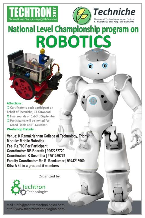 Two Days National Level Workshop On Mobile Robotics K Ramakrishnan