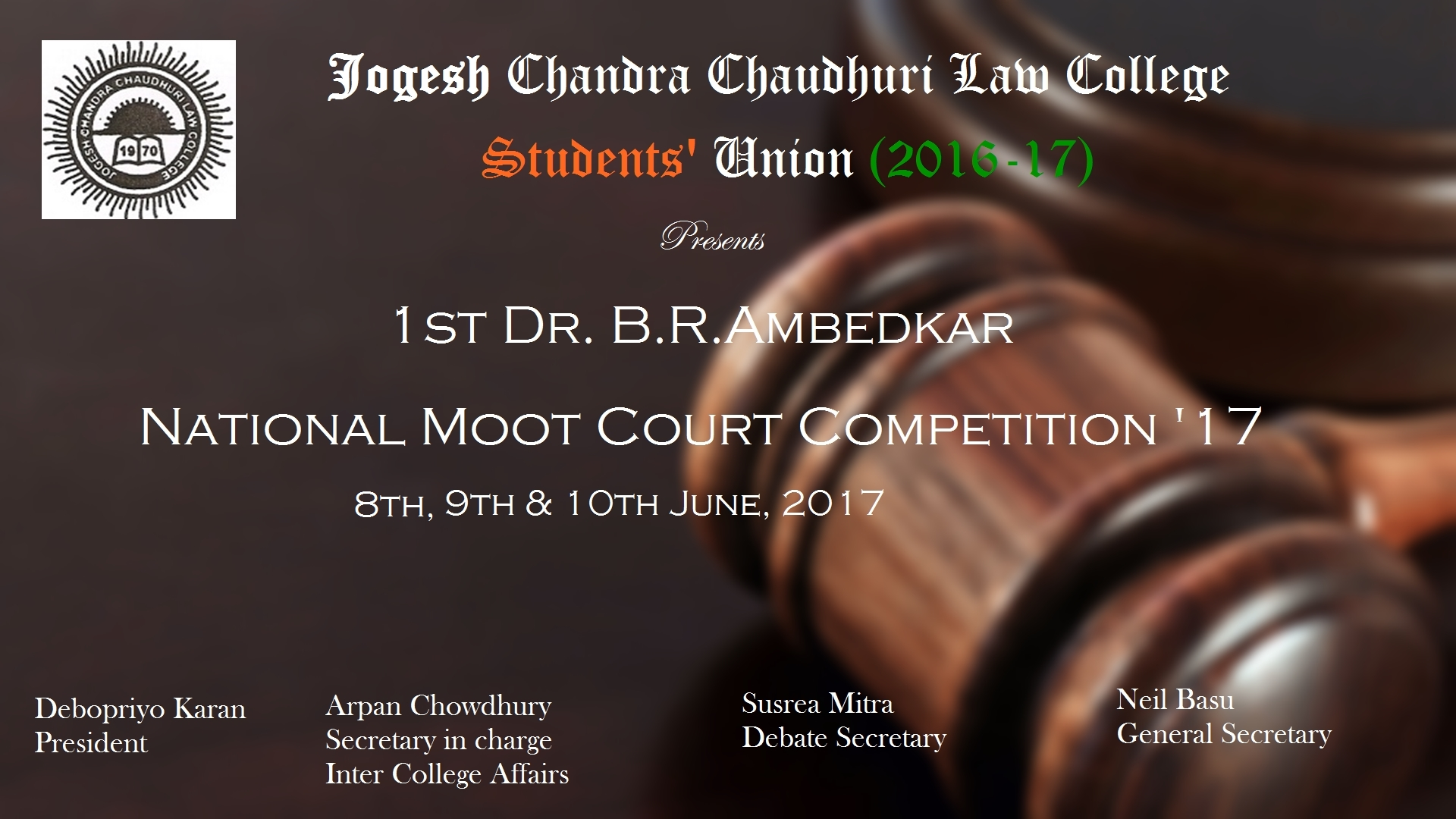 1st BR Ambedkar National Moot Court Competition 17