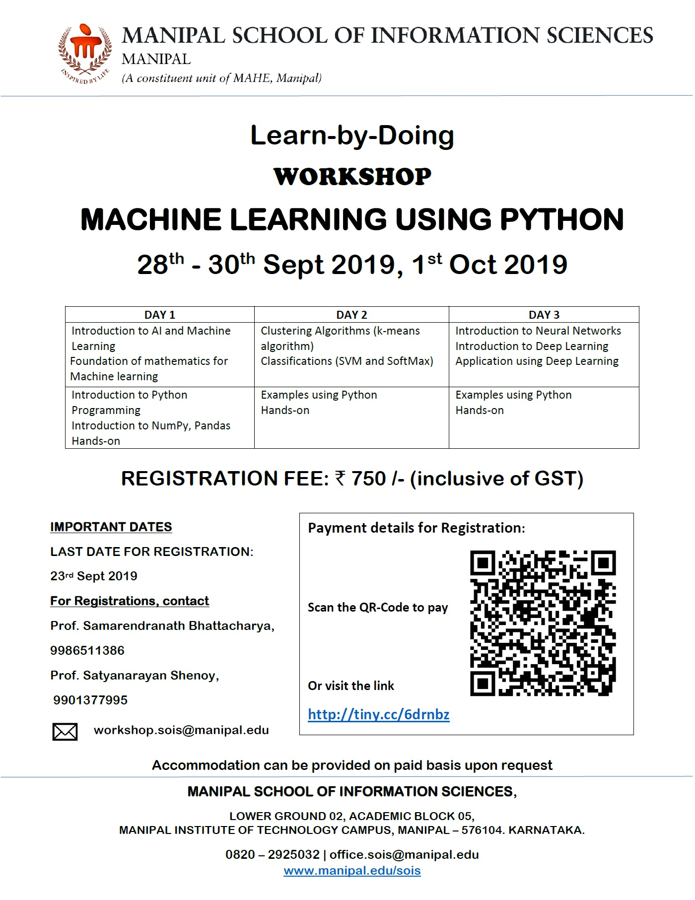 Machine Learning using Python Learn-by-Doing Workshop 2019