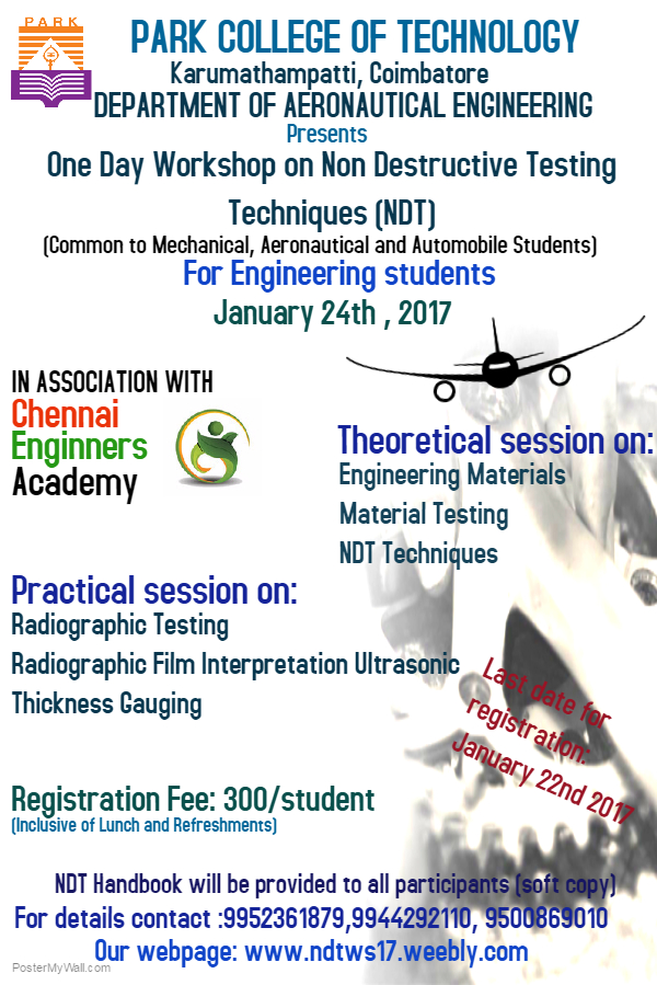 One Day Workshop on NDT