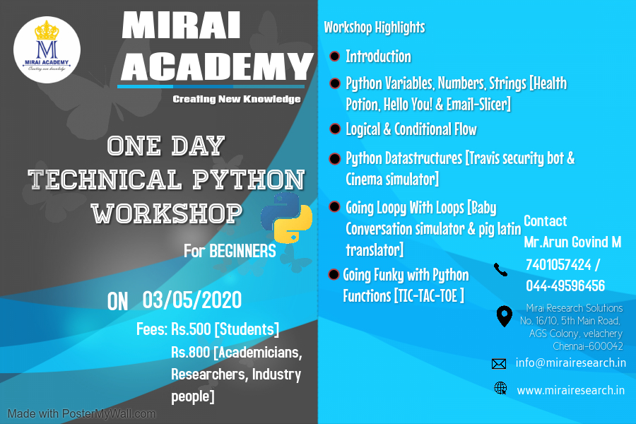 One Day Technical Python Workshop 2020