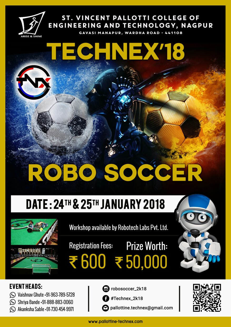 Robosoccer 3 0 St Vincent Pallotti College Of Engineering And