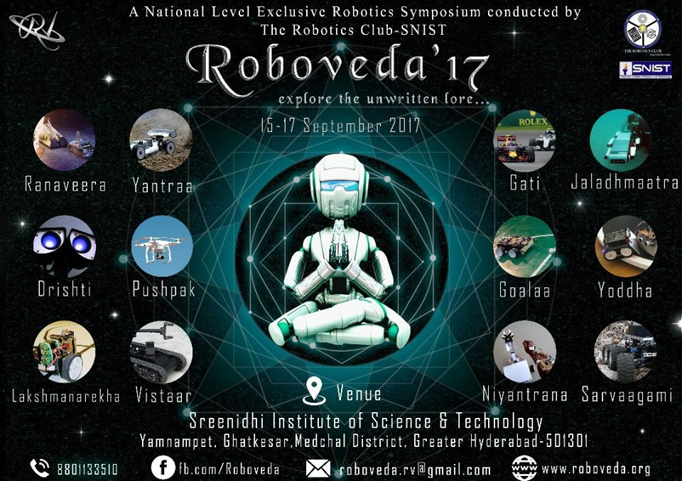 """ Roboveda 17 "": SreeNidhi Institute of Science and Technology. Hyderabad, 15-17th September 2017"