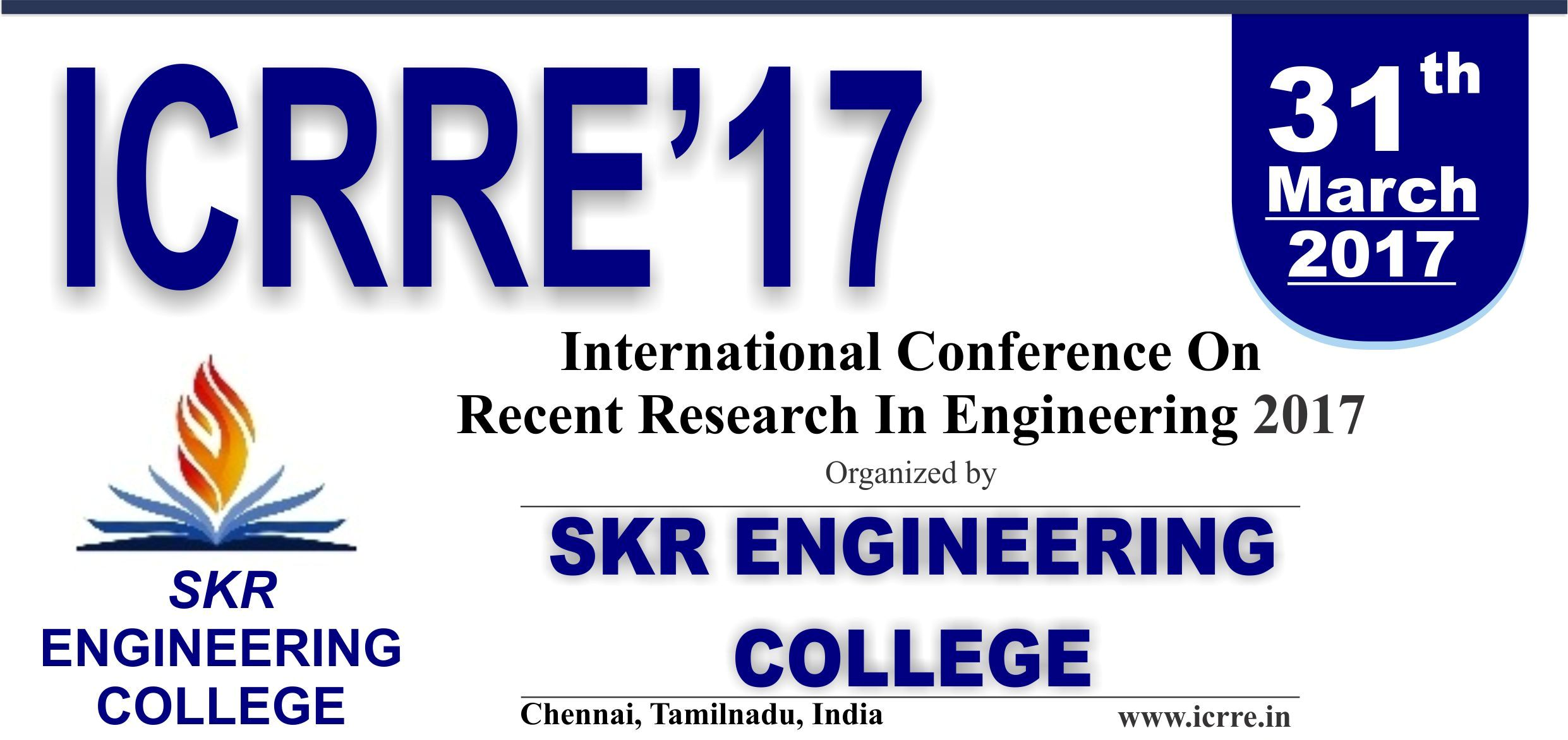 International Conference on Recent Research in Engineering ICRRE 2017