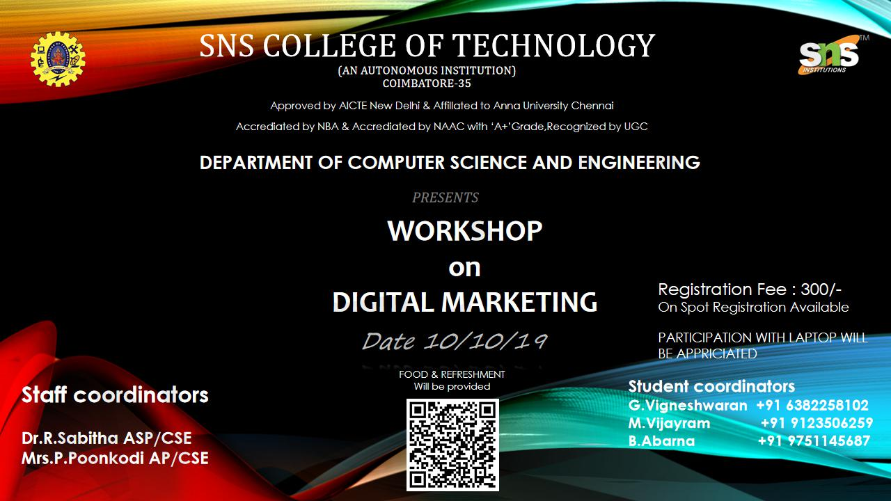 Hands on Workshop on Digital Marketing 2019