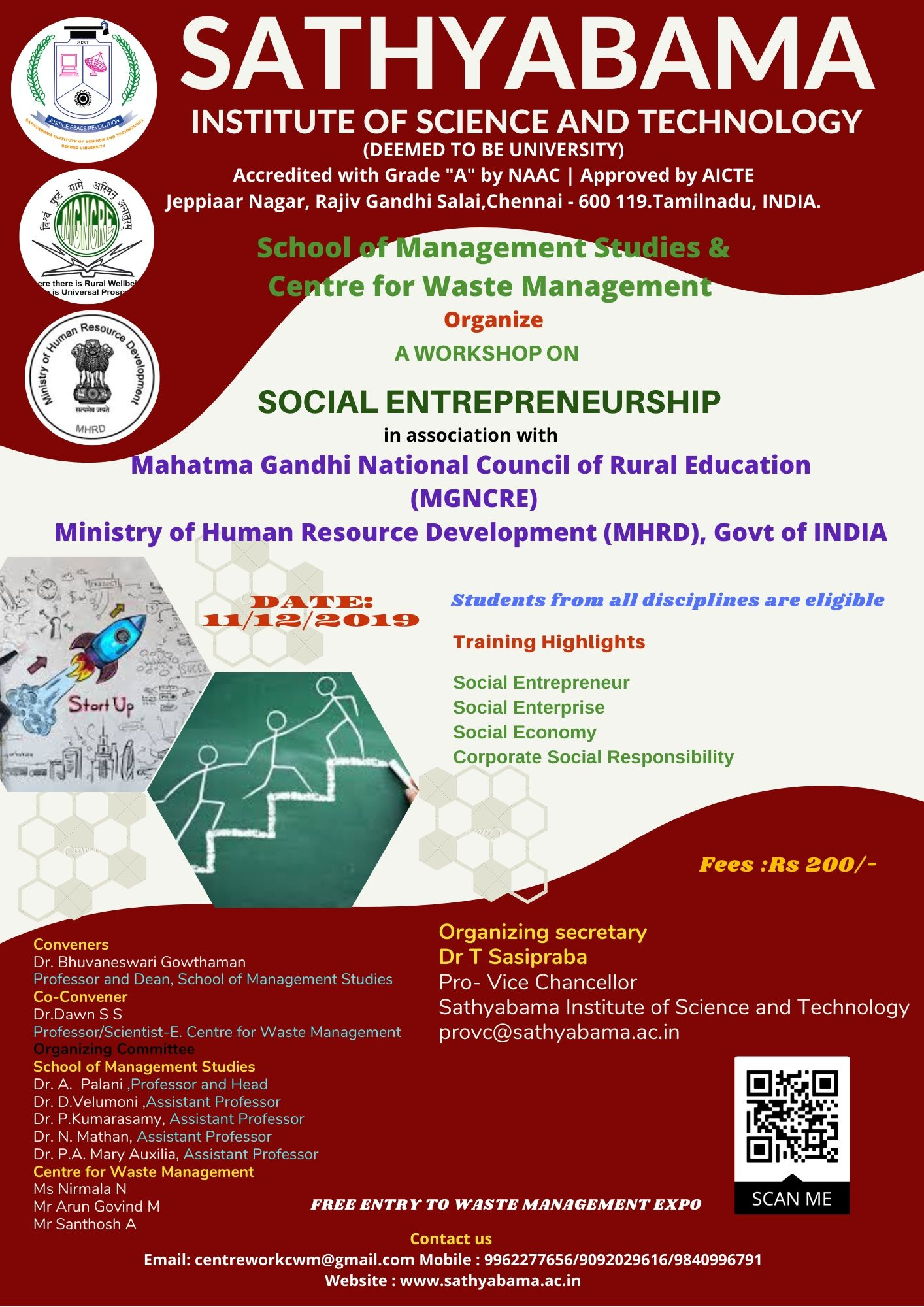A Workshop on Social Entrepreneurship 2019