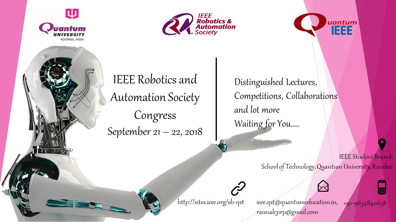 Ieee Robotics And Automation Society Congress 2018 Quantum School