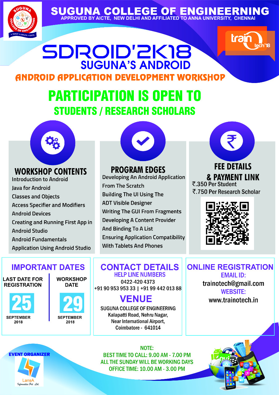 Android Application Development Workshop 2018