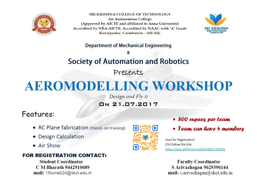Aeromodelling Workshop 2017