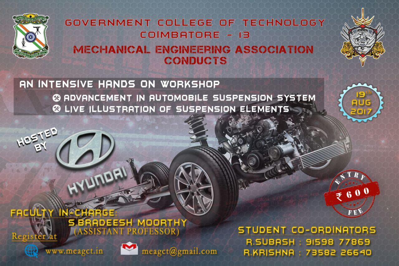 Workshop on Automobile Suspension System 2017