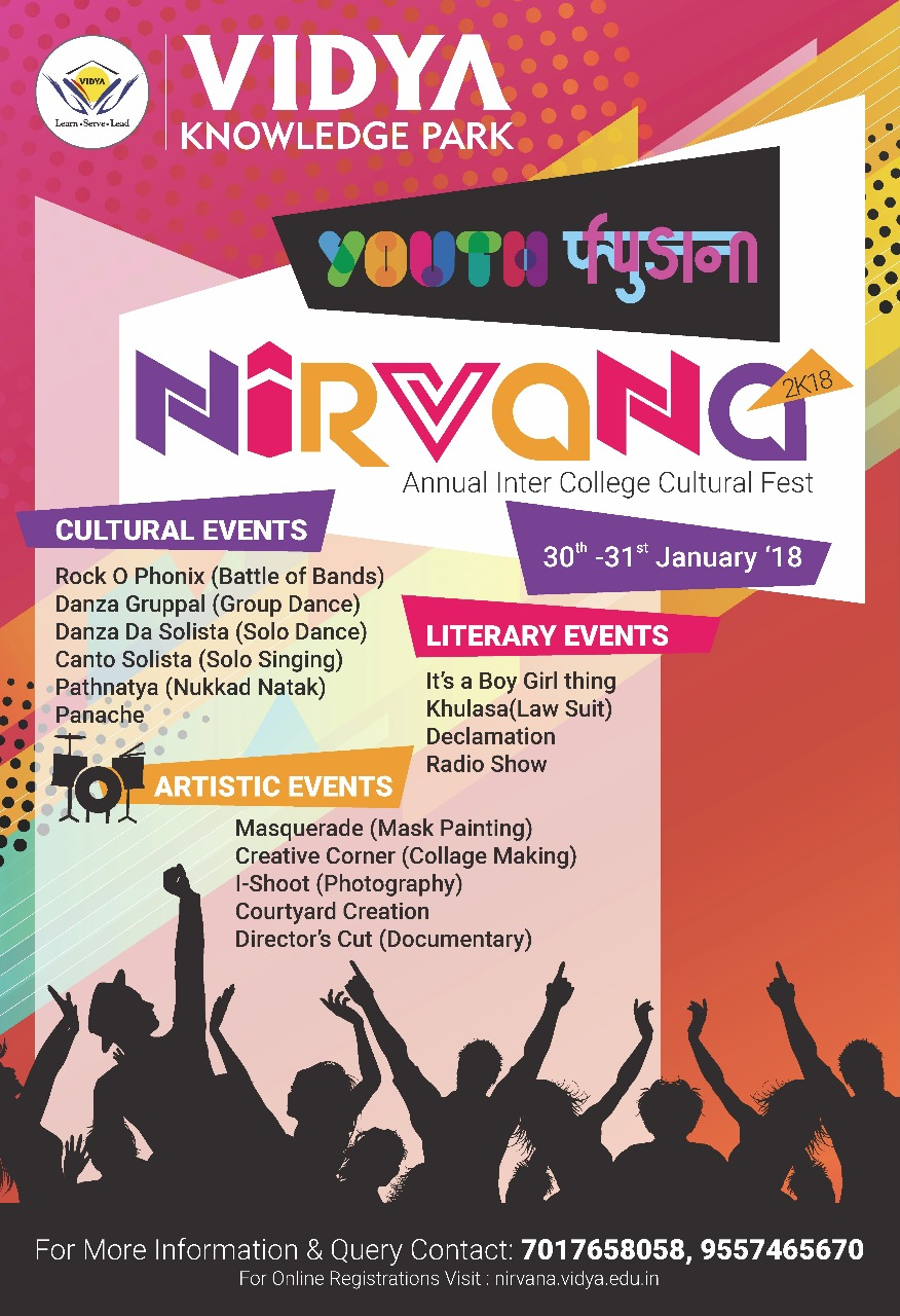 Nirvana 2018 Vidya Knowledge Park Cultural Festival Meerut