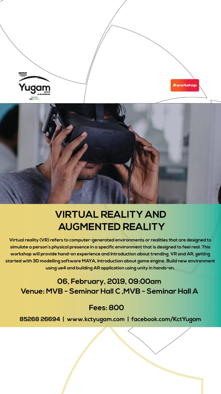 Yugam 19 Virtual Reality and Augmented Reality