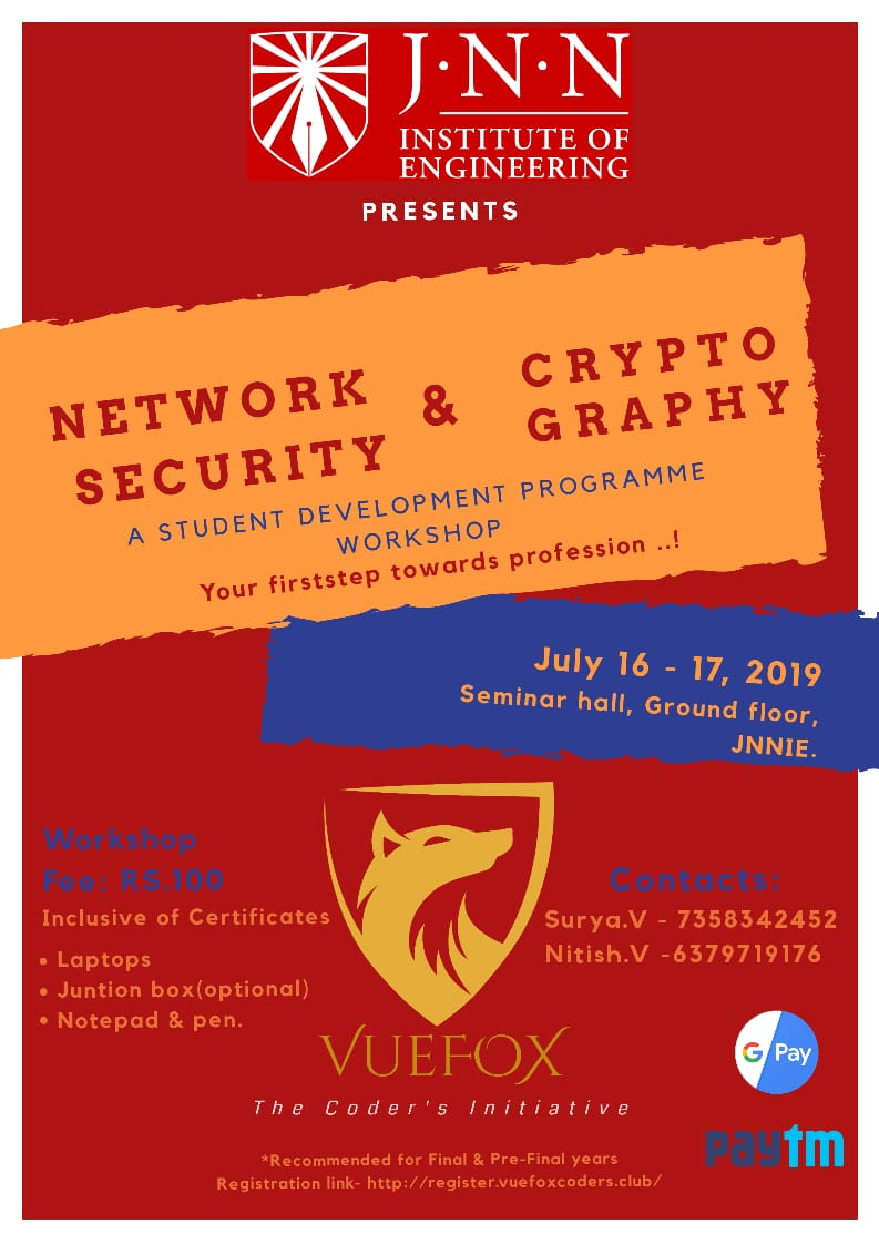 Cryptography and Network Security 2019