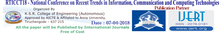 National Conference on Recent Trends in Information, Communication and Computing Technologies RTICCT 18