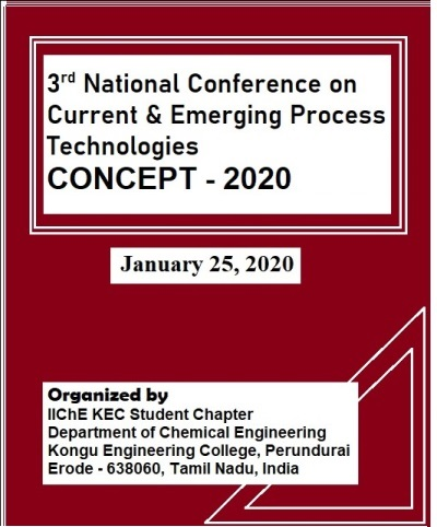 3rd National Conference on Current and Emerging Process Technologies 2020