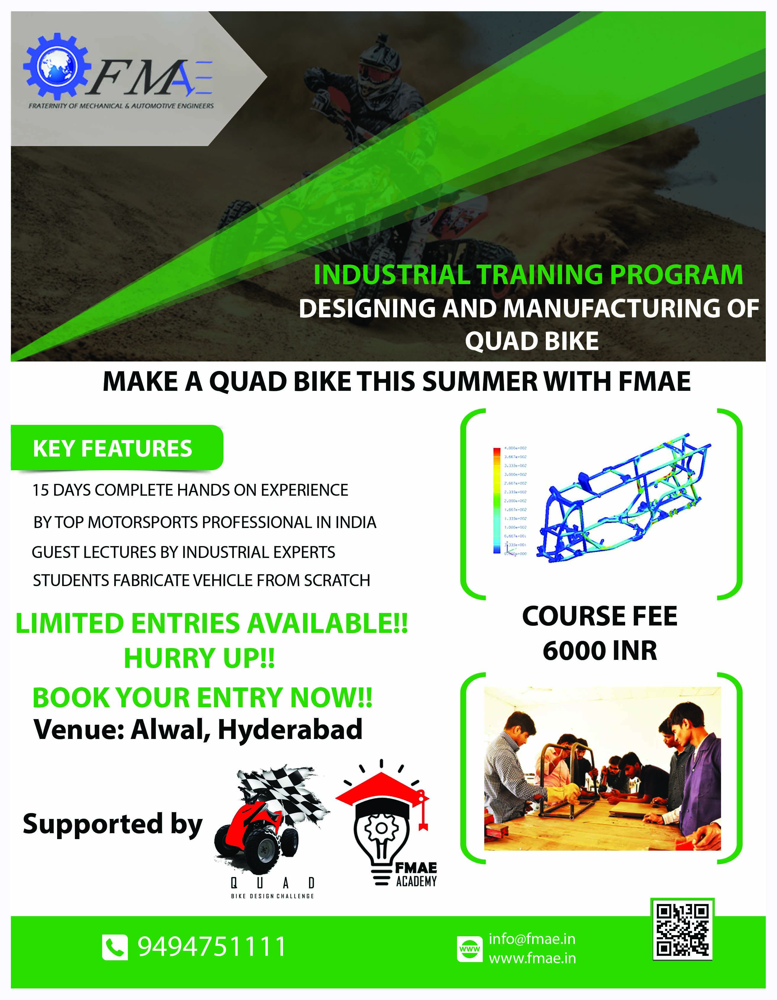 Industrial Training on Designing and Manufacturing of Quad Bike