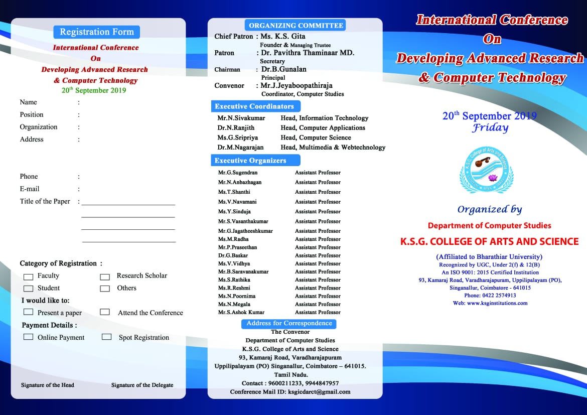 International Conference on Developing Advanced Research and