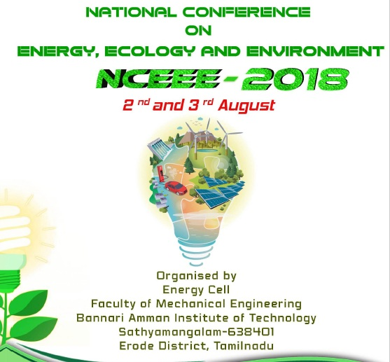 National Conference on Energy, Ecology and Environment NCEEE 2018