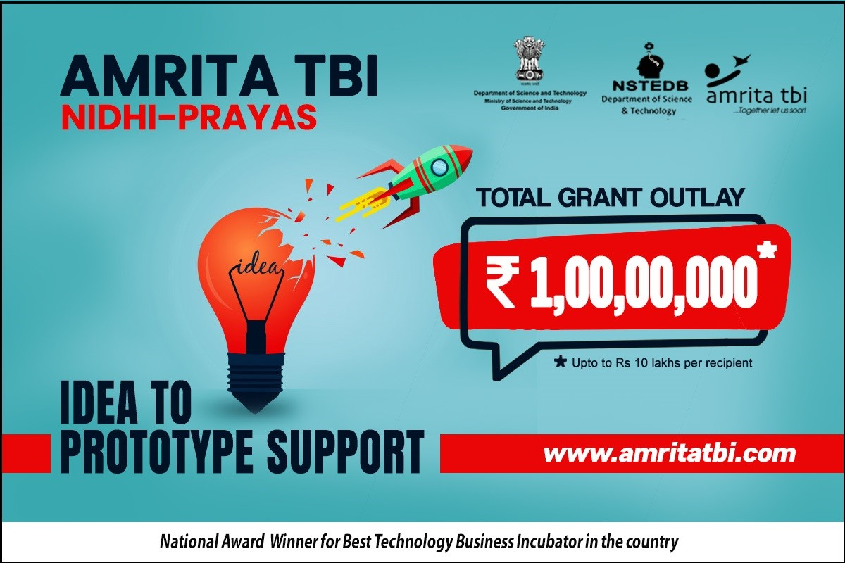 Launch your Startup & Get Funded - Amrita TBI PRAYAS 2020