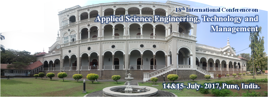 18th International Conference on Applied Science Engineering, Technology and Management 2017