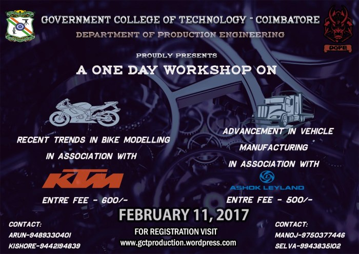 A ONE DAY WORKSHOP